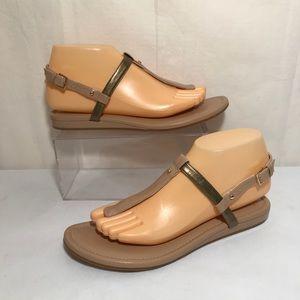 Cole Haan Boardwalk Patent Leather Nude Sandal 8B